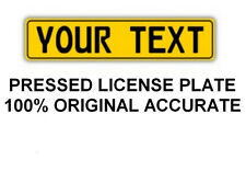 Customized Personalized European Union Car Euro license plate YELLOW like German