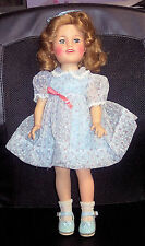 Vintage Era ST-17-1 IDEAL SHIRLEY TEMPLE DOLL PRETTY BLUE DRESS