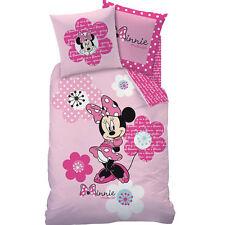 Disney Minnie Maus Bieber Bettwäsche - Kissen 80x80 cm - Bettbezug 135x200 cm