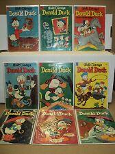 Donald Duck 27-35 SET Walt Disney 1953-1954 Dell Comics (set# 4810)