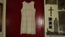 FRENCH CONNECTION BEIGE REAL LEATHER DRESS SLEEVELESS EYELET DETAIL*UK12/EU40