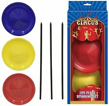 Plate Spinning Set Balancing Juggling Magic Circus Trick Skill Game Toy TY7478