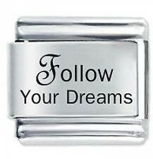 FOLLOW YOUR DREAMS et Daisy Charm JSC Fits Classic Size Italian Charms Bracelet