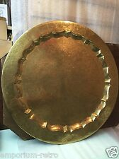 vintage stunning very large aribic brass tray 58cm Diameter charger display