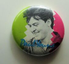 PAUL YOUNG OLD METAL BUTTON BADGE FROM THE 1980's RETRO POP