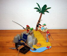 Playmobil: Pirateninsel mit Hängematte Boot Schatztruhe