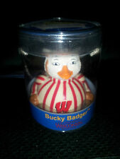 Bucky Badger Wisconsin Celebriduck Rubber Duck NEW in Case