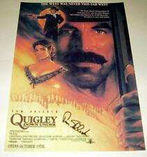 """QUIGLEY DOWN UNDER PP SIGNED POSTER 12""""X8"""" TOM SELLECK"""