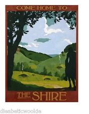 Lord of the Rings The Shire Hobbt Hole Frodo Gandalf art print poster rare mondo
