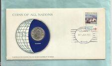 #D55. Stamped Envelope & Coin - Ecuador