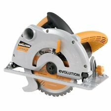 Evolution Multipurpose Electric Mitre Circular Saw, Cut Wood Metal Blade 230V