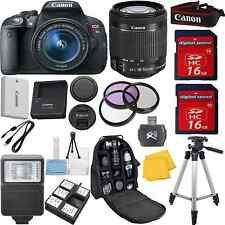 Canon Rebel T5i Camera Bundle Kit w/18-55mm IS STM+Full Size Tripod+32GB+EXTRAS!