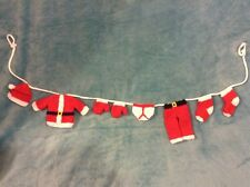 KNITTING PATTERN - Cute Father Christmas / Santa washing line decoration