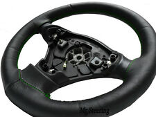 FOR ALFA ROMEO 156 96-07 BLACK ITALIAN LEATHER STEERING WHEEL COVER GREEN STITCH
