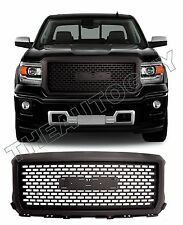 2014 2015 GMC SIERRA ABS MATTE FLAT BLACK DENALI STYLE REPLACEMENT GRILL
