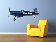 "Vintage Black Sheep Squadron F4U Corsair Airplane Wall Decal 20""x9"""
