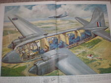 A Vickers Vicking of the king's Flight in Cross section G H Davis 1947 print