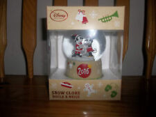 DISNEY STORE MICKEY & MINNIE MOUSE SNOW GLOBE (NEW) CHRISTMAS 2016