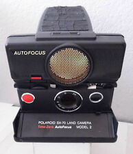 Polaroid Instant SX-70 Time-Zero Autofocus Model 2 +Box Manual & Case TESTED