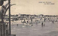 2479) SALUTI DA RICCIONE (RIMINI9 LA RIDENTE SPIAGGIA, MOSCONI E BAGANTI VG 1926