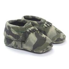 Sale Baby Boys Girls Crib Tassels Camouflage Shoes Soft Sole Sneakers Shoes 11 N