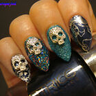 5Pcs Nail Art Charms Dazzling Skull Mask Design Studs 3D Decoration DIY