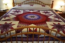 NEW Amish Handmade Quilted Stars within a Lone Star  King or Lg Queen 107x116