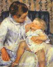 Mother About to Wash Her Sleepy Child by Mary Cassatt   8x10 Art Print 0515