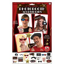 Hollywood At The Movies Photo Booth Kit - Party Award Props Costume Theme