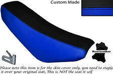 BLACK & ROYAL BLUE CUSTOM FITS STOMP CRF 70 LEATHER SEAT COVER ONLY