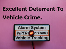 Vehicle Alarm Easy Fit Low Cost Security Solution Dummy Alarm