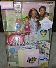 Midge & Nikki Happy Family Barbie Caucasian Dolls 1st Birthday Puppy Toys