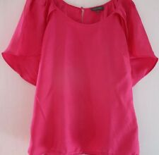 Pure Silk bright pink petal type blouse Pied A Terre size 10