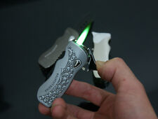 1x Novelty Pocket Knife Windproof Smoking Cigarette Lighter Tool Gift QZ