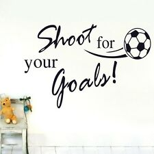Shoot for Your Goals Home Wall stickers Quotes Decal Removable Mural Deco Vinyl