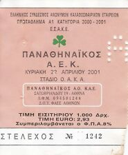 AEK ATHENS v PFC LITEX LOVECH UEFA LEAGUE 22 NOVEMBER 2001 3RD ROUND TICKET STUB