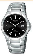 Pulsar PG8099 Men's Dress Sport Stainless Steel Black Dial Watch