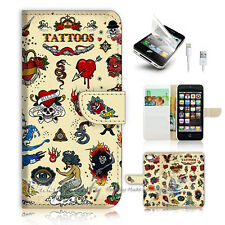 iPhone 5 5S Flip Wallet Case Cover! P0771 Tattoo