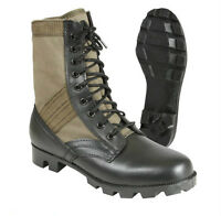 "Rothco  Military Leather 8"" Jungle Boot Olive Drab Color With Vent Holes 5080"