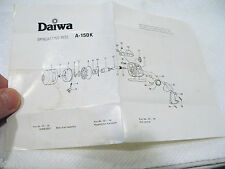 DAIWA  A-150 K REEL -  OLD FOLDOUT USED - COLLECTOR