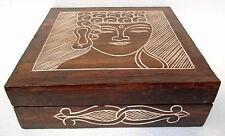 Hand Made Buddha Trinket Box Unusual Hand Carved Solid Wood Buddha Storage Box