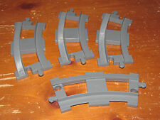 Lego DUPLO Curved Train Track Dark Gray Replacement Part -  Set of 4 Pieces