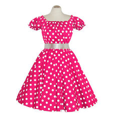 Rockabilly 50er   Kleid Petticoat Pin Up Party Baumwolle S-M 102-42