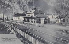 C2851) SALUTI DA BARDONECCHIA,  STAZIONE E TRENO IN ARRIVO. VIAGGIATA NEL 1906.