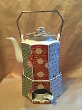 Arita Imari Fan FINE CHINA Teapot Stand and Warmer