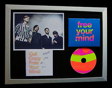 CUT COPY+SIGNED+FRAMED+FREE YOUR MIND+GHOST=100% AUTHENTIC+EXPRESS GLOBAL SHIP