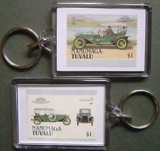 1910 Lozier Briarcliff Car Stamp Keyring (Auto 100 Automobile)