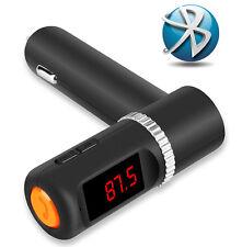 Regno Unito VIVAVOCE BLUETOOTH CAR Kit Lettore MP3 FM TRASMETTITORE Dual 2.1 A USB Caricabatterie