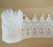 4 yd Vintage Embroidered Lace Edge Trim Ribbon Wedding Applique DIY Sewing Craft