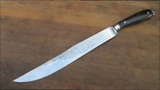 FINEST Vintage Hoffritz/Wusthof Chef's Yatagan Slciing Knife w/Horn - A+++ Cond.